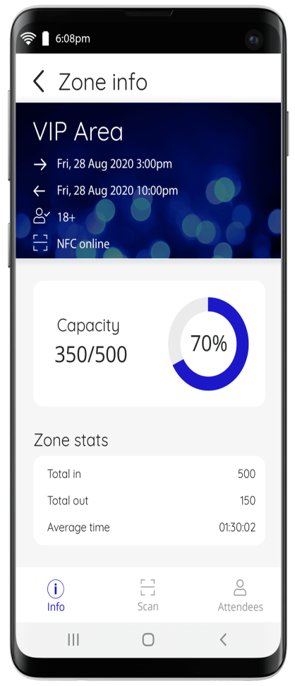 Manage event entry with the Nutickets apps.