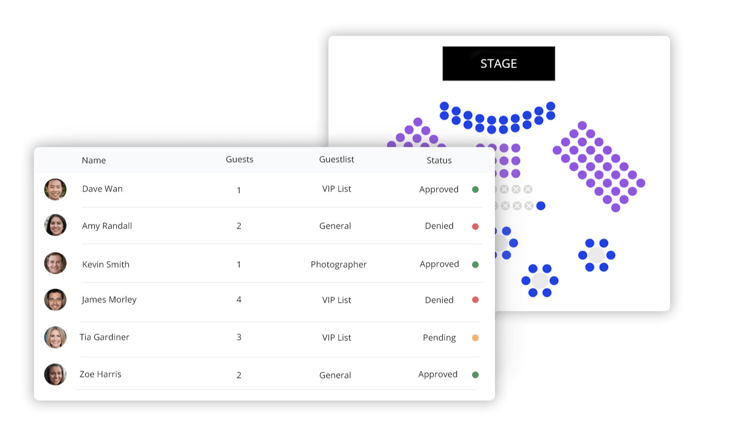 Automate your guest lists, organise them into categories, and cut down sign-up times